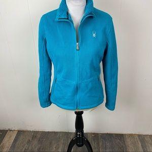 Spyder Blue Sweater Jacket Size Medium